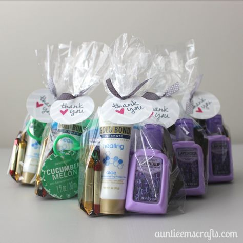 Last Minute Nurse Thank You Bags | AuntieEmsCrafts.com