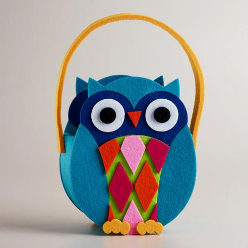 One of my favorite discoveries at WorldMarket.com: Spring Owl Felt Container