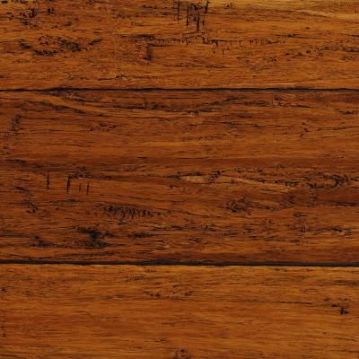 Home Decorators Collection Handscraped Strand Woven Harvest 1/2 in. x 5-1/8 in. Wide x 72-7/8 in. Length Solid Bamboo Flooring (25.93 sq. ft./case)-AM1313 at The Home Depot