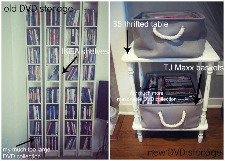 Left DVD storage shelves by Ikea53 best DVD Storage of Massive Collection images on Pinterest  . Easy Diy Dvd Shelf. Home Design Ideas