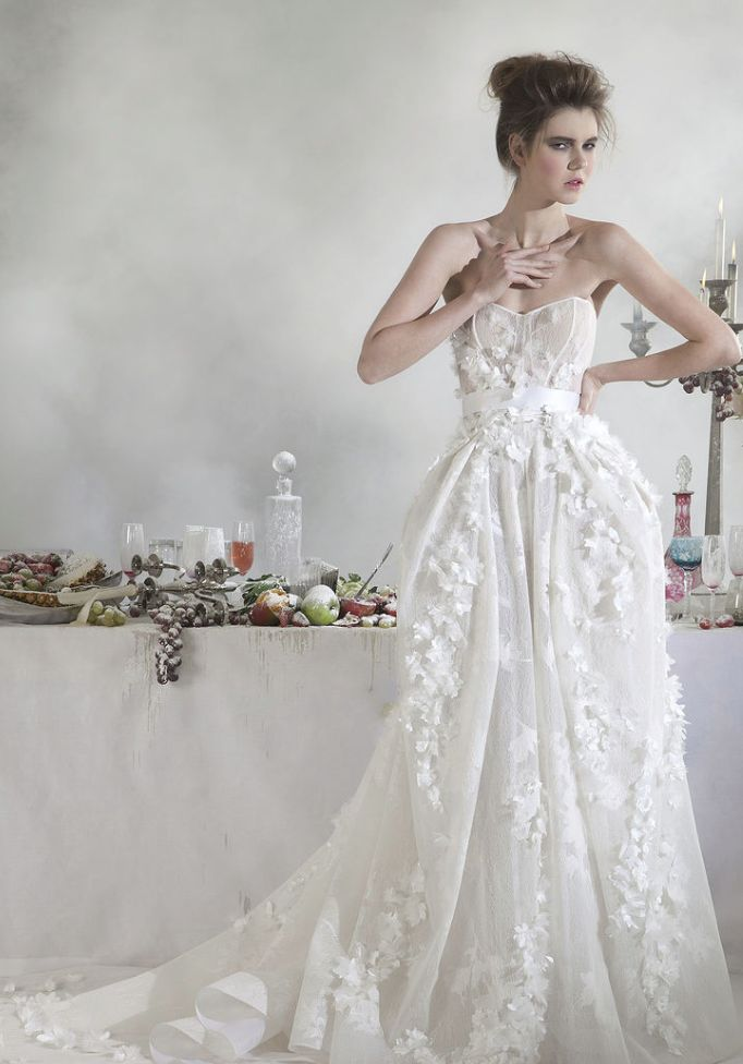 Basil Soda Wedding Dresses 2014 Bridal Collection. To see more: http://www.modwedding.com/2014/07/07/basil-soda-wedding-dresses-2014/ #wedding #weddings #wedding_dress