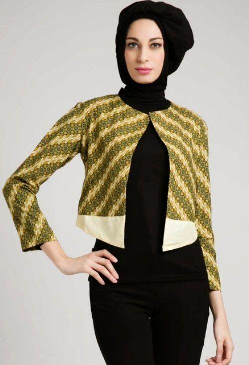 Model Baju Batik Muslim Modern untuk Kerja Kantor
