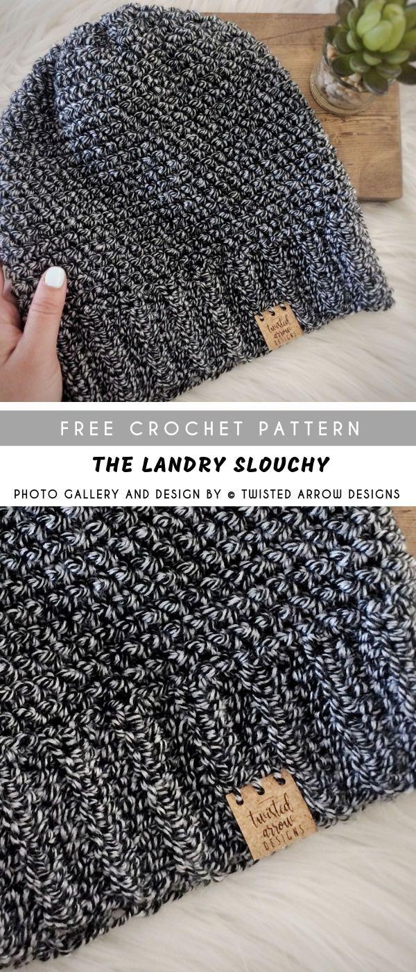 The Landry Crochet Slouchy with Free Pattern #crochetpatternsfree #beanie #hat