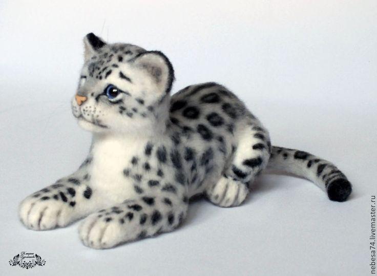Снежный барс Ирбис (игрушка из войлока) - игрушка валяная,валяная игрушка