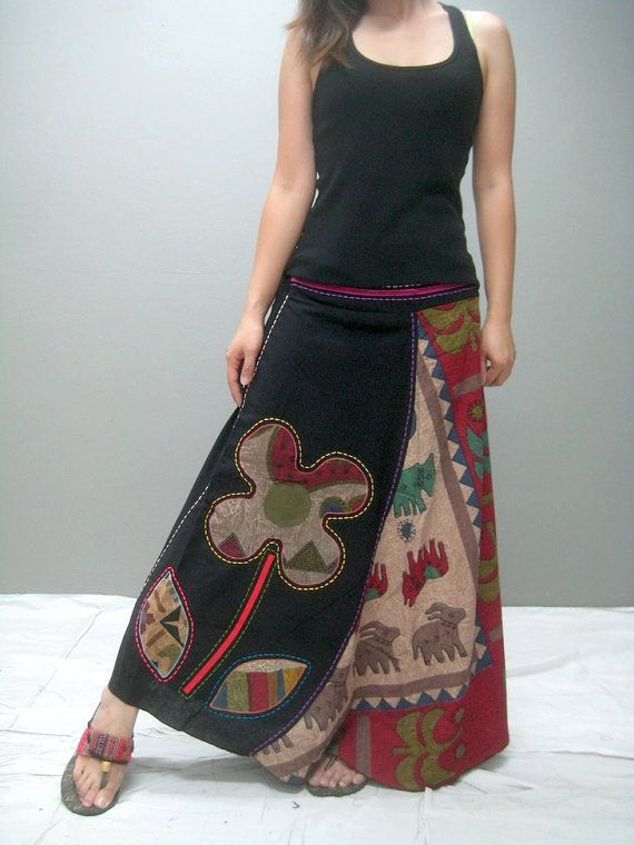 The skirt has an elastic waist in the back for flexible fit, Features, colorful fabric that create a unique look. The designs is simply but unique to