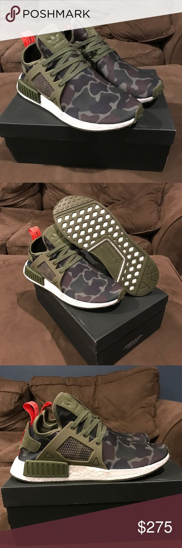 Adidas Camo NMDs *Exclusive* Adidas Camo NMDs *Exclusive* Adidas shoe Sold out everywhere and Deadstock. Size 10 BRAND NEW IN THE BOX. Make an offer before they're gone!!! Adidas Shoes Sneakers