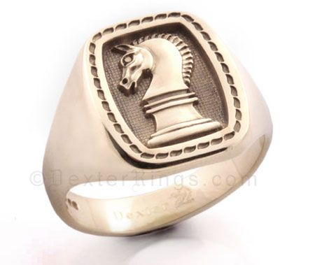 Horse Knights Head Signet Ring Men S Jewelry