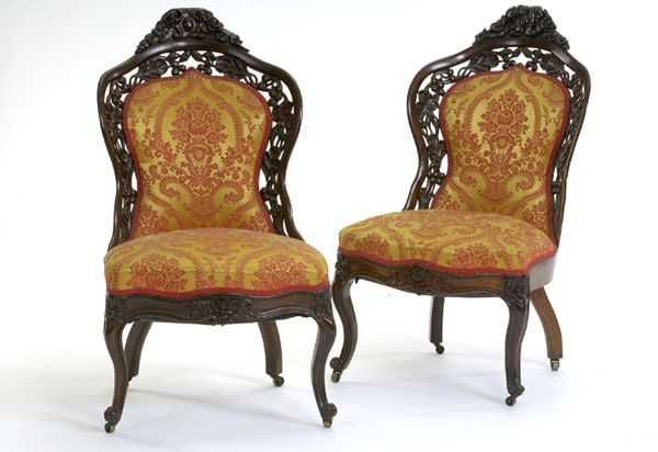 Pair Of Rococo Revival Belter Parlor Chairs Cowan S