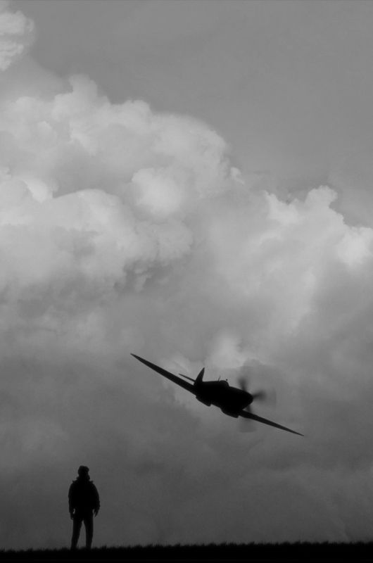 Spitfire low pass flyby
