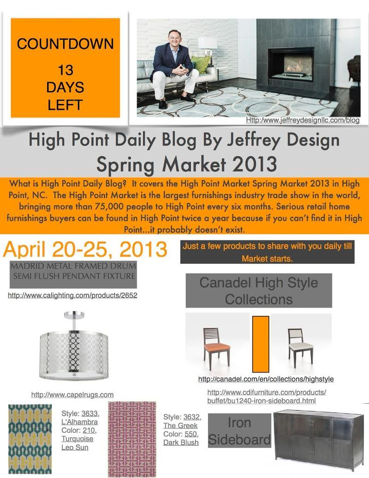 COUNTDOWN 13 DAYS LEFT BEFORE HIGH POINT MARKET BEGINS
