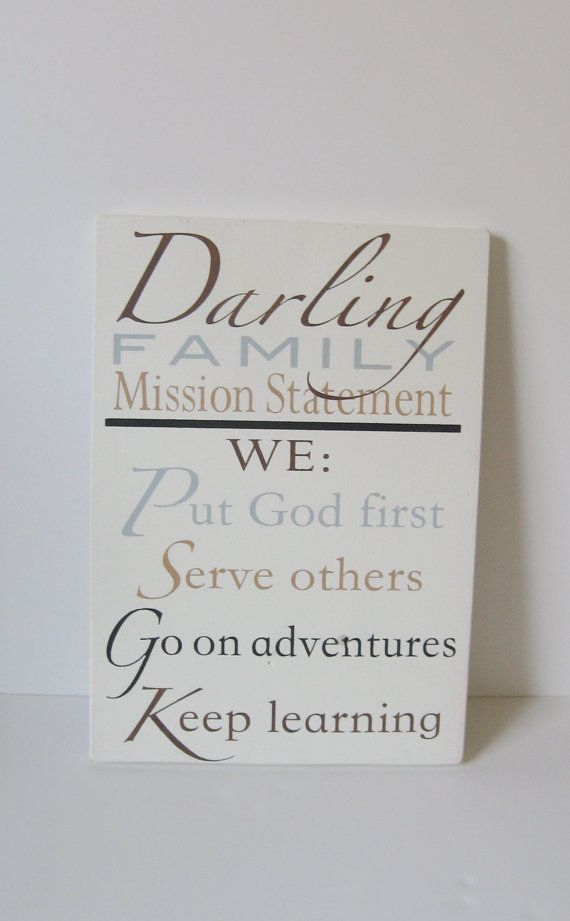 23x11 Custom Family Mission Statement Family Rules by smilecrush, $65.00