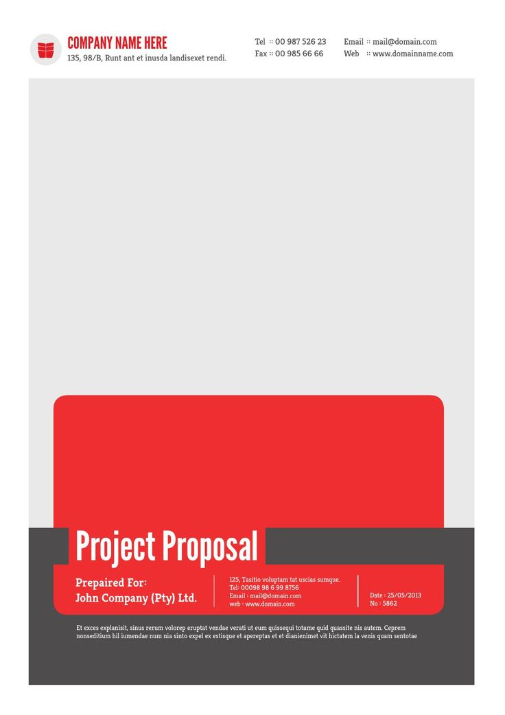 Best Professional Word Template Images On   Proposal