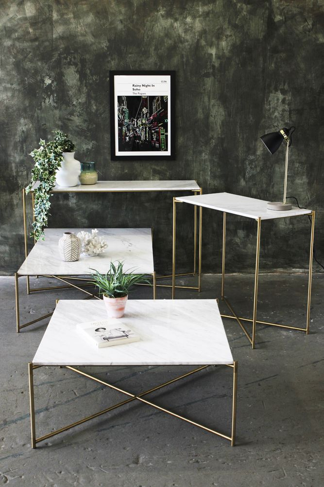 Our fabulous Carrara Marble tables!