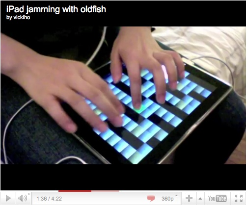 "http://vickiho.com/mugician-on-the-ipad: Jamming along to ""Movement"" by oldfish with the excellent Mugician app on the iPad."