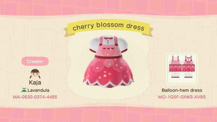 Cherry Blossom Dress Animal crossing qr, Animal crossing