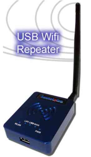 Radiolabs WiJacker USB Router Repeater, go from distant public wifi access point to your own local Wifi.    This is the USB Router solution you have been waiting for! The WiJacker USB Router Repeater allows you to share a wireless connection with multiple computers with ease!    RadioLabs, ever the innovator in long range wireless communication technology, has listened to it's customers and is proud to introduce the WiJacker - USB Wifi Router Repeater.
