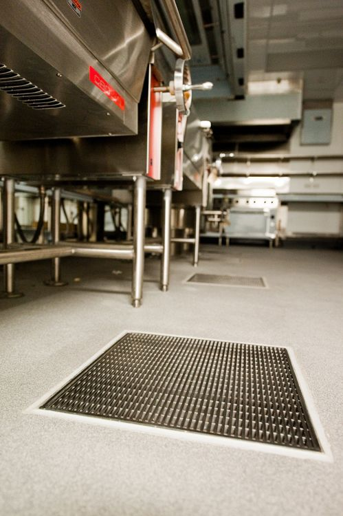 Allproof Industires Commercial Kitchen and Food Prep Areas Drainage Solutions. CK Sump at Eden Park