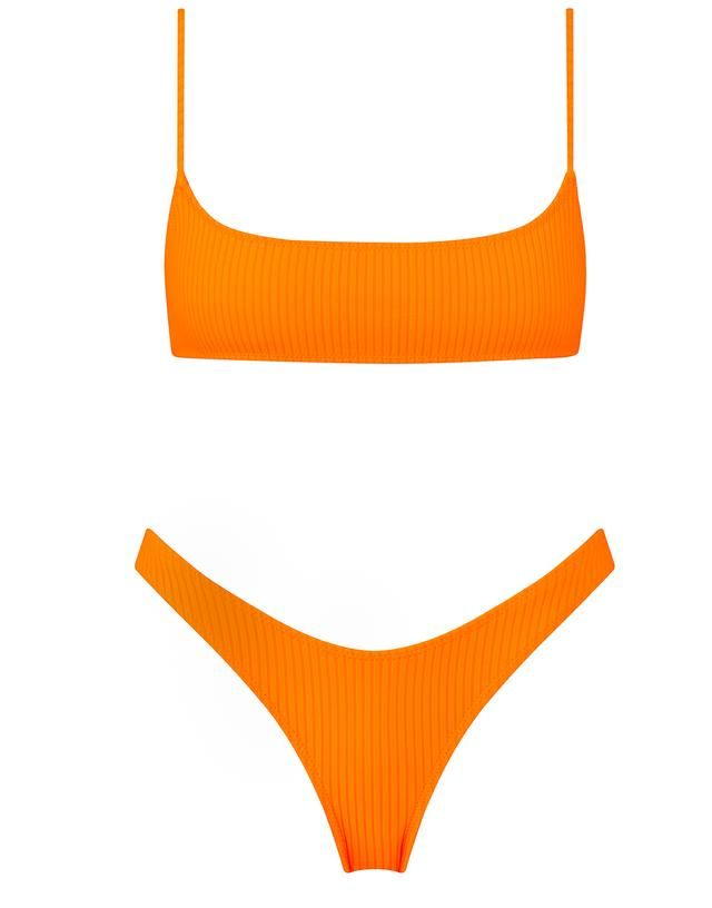 69ca0bc48a The Neoprene Bikini. Shop the Entire Collection, exclusively available from  our website. | Triangl in 2019 | Orange swimsuit, Orange bikini set, ...