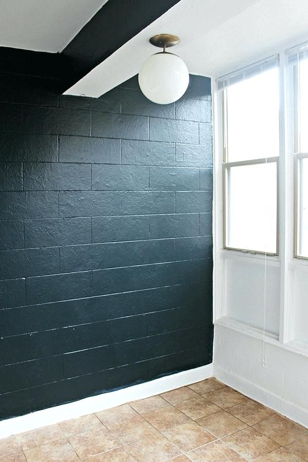 painted cinderblock wall 80 90s tile floor cinder block on paint for basement walls id=78167