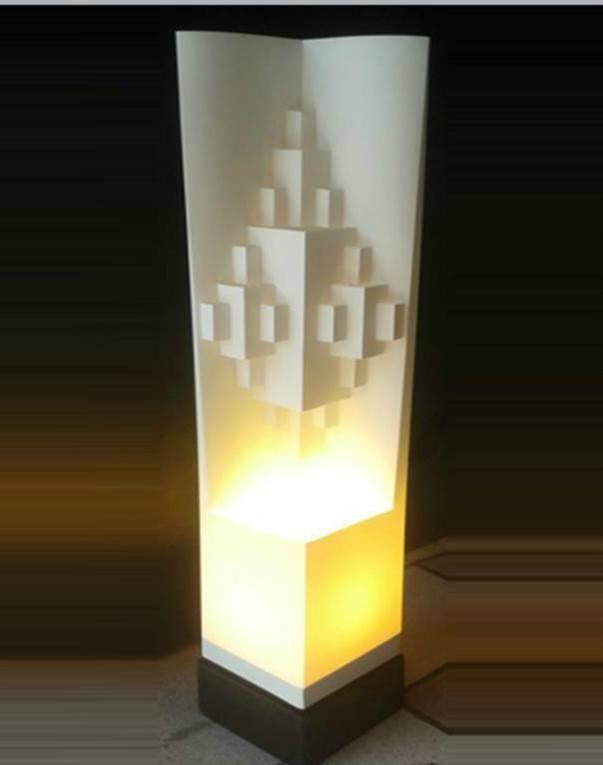 Lámpara decorativa, modelo Prismas Rectangulares. Marca Orion's. Ideal para decorar casa, oficina o negocio.