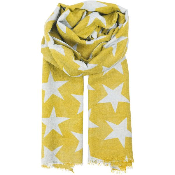 Becksondergaard Supersize Nova Scarf - Freesia ($86) ❤ liked on Polyvore featuring accessories, scarves, freesia, yellow shawl, yellow scarves, becksöndergaard and star scarves