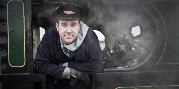 Train Driver at the Stephenson Railway Museum in North Tyneside http://www.twmuseums.org.uk/stephenson.html © Colin Davison