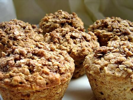 Applesauce Oatmeal Muffins from Food.com:   								This is an awesome recipe that my wife just made this morning.  The TOPPING is the key to making these extra yummy!  Tasty way to get your morning oats!