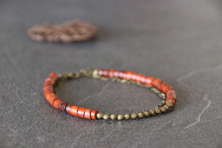 Bracelet de cheville boho bohème ethnique, multirangs, boho anklet, chaine de cheville, perles de coco heishi cuivrées , chainette métal de la boutique PerlicotiPerlicoton sur Etsy