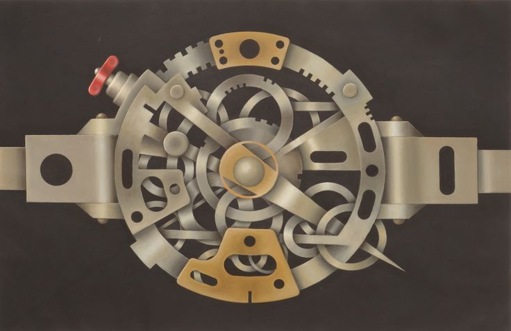 Mechanism of Thought Circular Acrylic and oil on canvas      cm 60 x 90