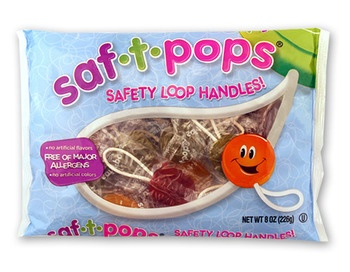 Natural Saf-T-Pops, for valentine's