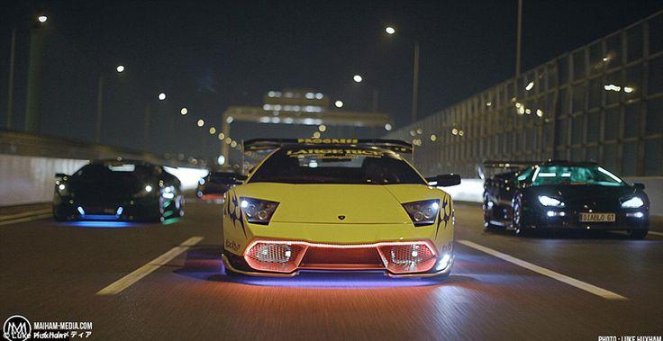 """En fotos: Lamborghinis modificados a lo """"Rápido y Furioso"""", los autos de la mafia Yakuza"""