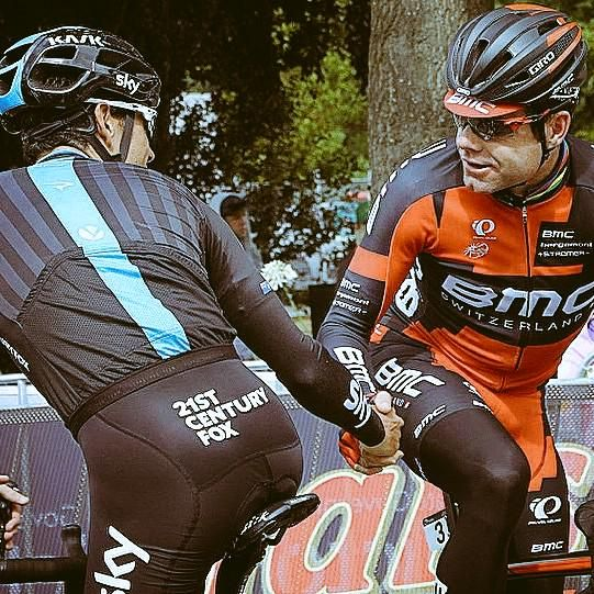 Love this picture! @richie_porte and @CadelOfficial ❤️ #aussie #TDU #cycling.  v@e.