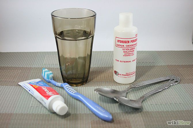 Wasserstoffperoxid. Zähne aufhellen oder auch als tägliche Mundspülung mit Backpulver