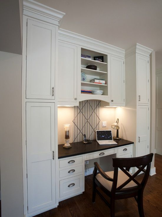 Desk Built Into Closet 121 best home office images on pinterest | kitchen desks, kitchen