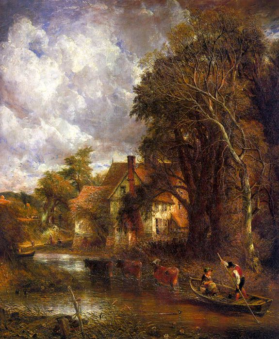 Lanscape painting by John Constable who is a Romantic artist (Ce-6)
