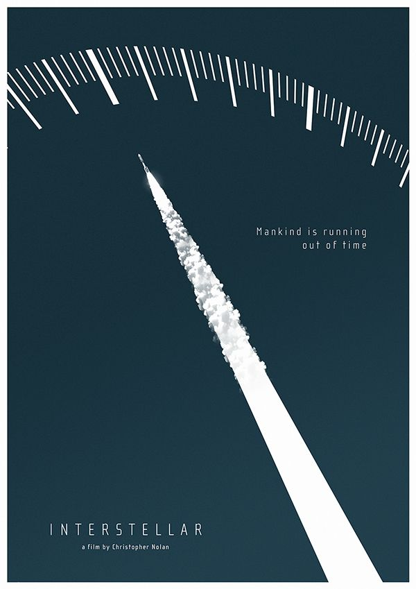 'Interstellar' (2014) by Christopher Nolan Fan made poster Hamilton Watch