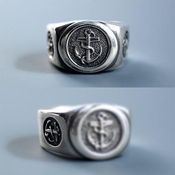 nautische Ring Seemann Silber Herren Ring Seemann von werfstore