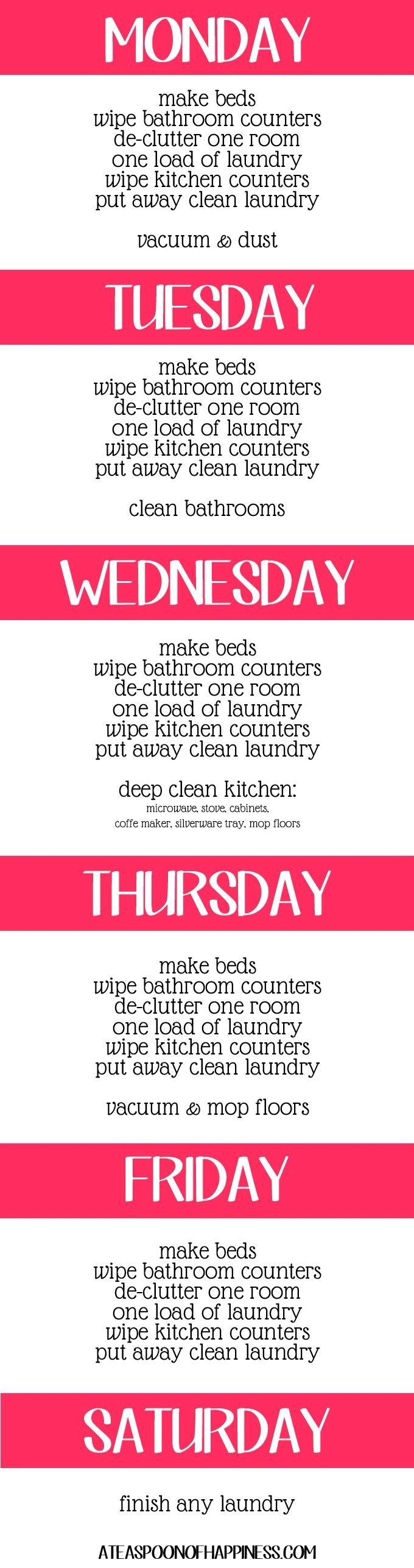 Cleaning Rota