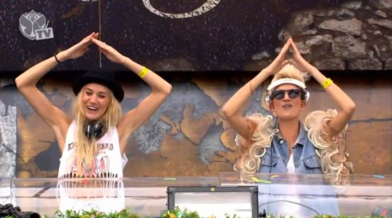 this may be the 100th time i have rewatched the sets at Tomorrowland 2012 - only just noticed Nervo's awesome outfits