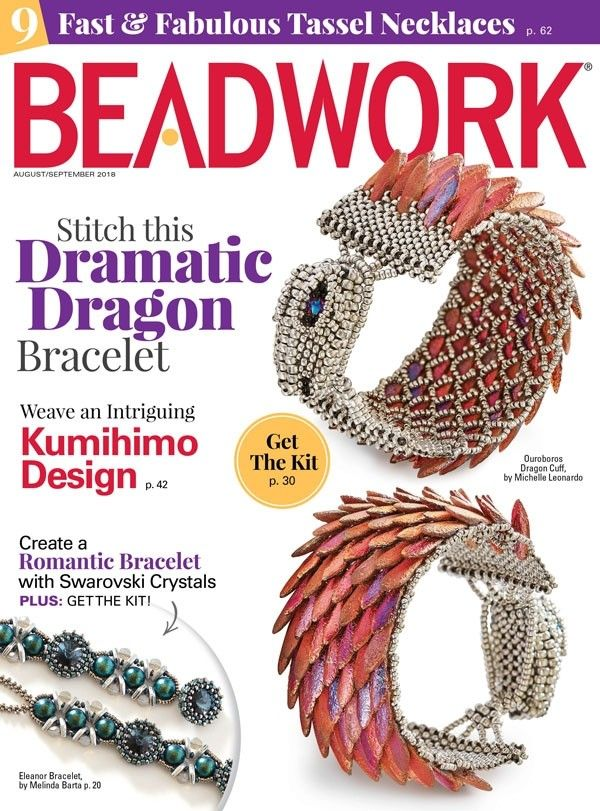 69bb5c735dae Fall into style with the August September digital issue of Beadwork  magazine includes 12 unique bead-weaving patterns and 9 Fast   Fabulous  projects.