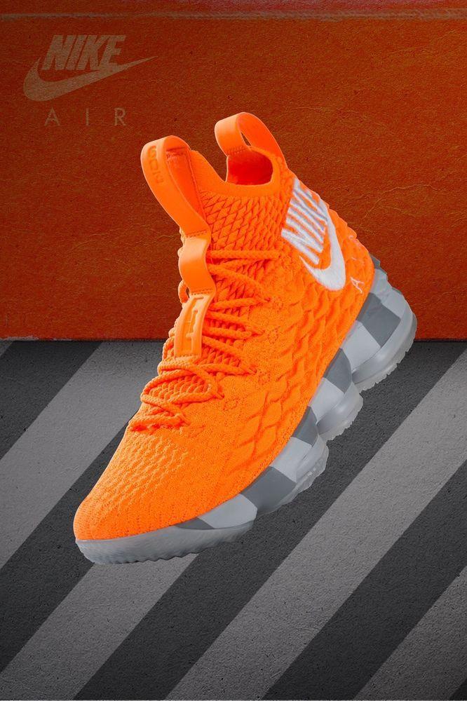 3f51c36ac914 Nike LeBron XV 15 XV KS2A Orange Box AR5125 800 Men s Sneakers  Size 11.5