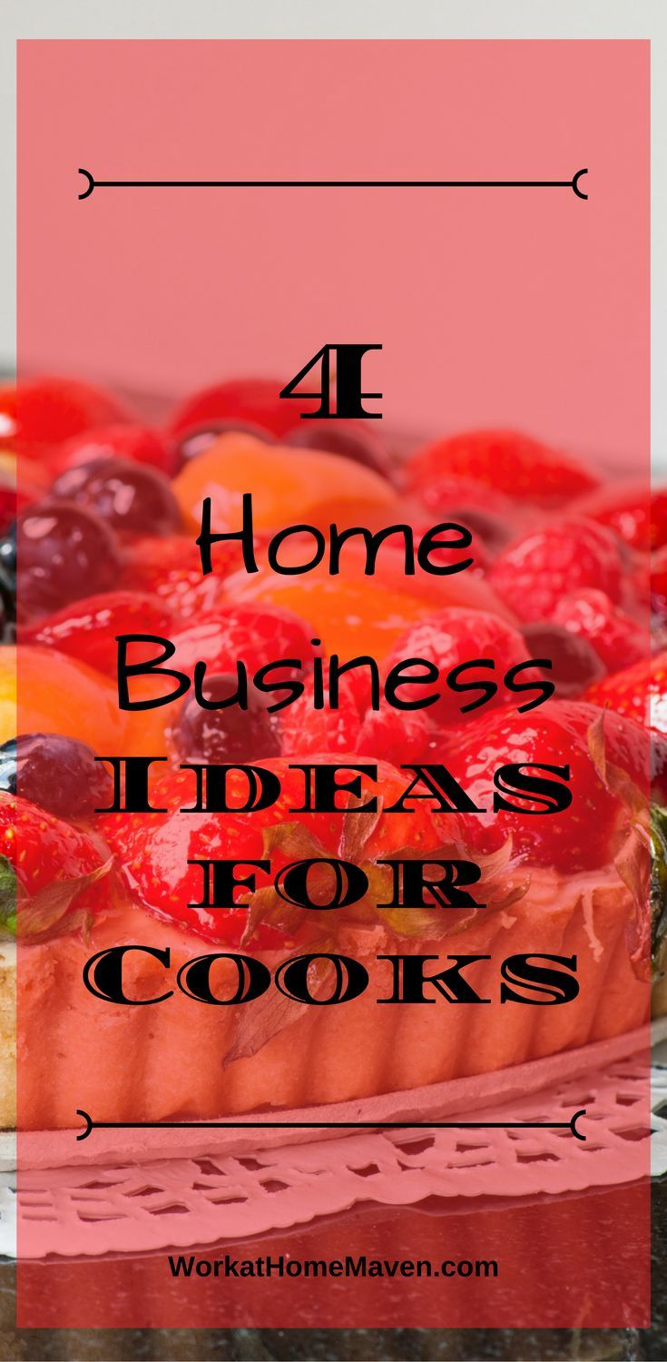 If you love cooking, let me inspire you with these home business ideas for cooks. Here are four businesses you can start and share your love of food.