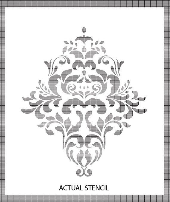 Large Wall Damask STENCIL Pattern FAUX by innovativestencils