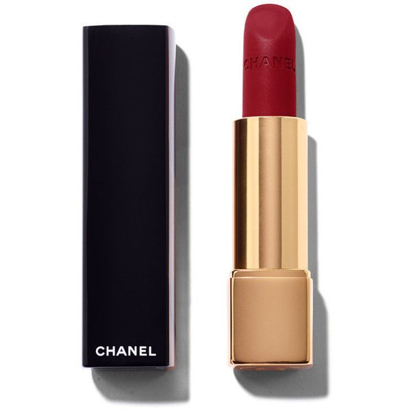 Chanel Rouge Allure Velvet Intense Long-Wear Lip Colour 38 La... ($36) ❤ liked on Polyvore featuring beauty products, makeup, lip makeup, lipstick, chanel, long wearing lipstick, lips lipstick, velvet matte lipstick and chanel lipstick