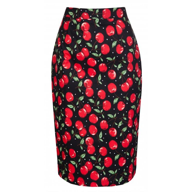 Lisa Cherry Pencil Wiggle Skirt | Vintage Inspired Fashion - Lindy Bop [wantsies]: