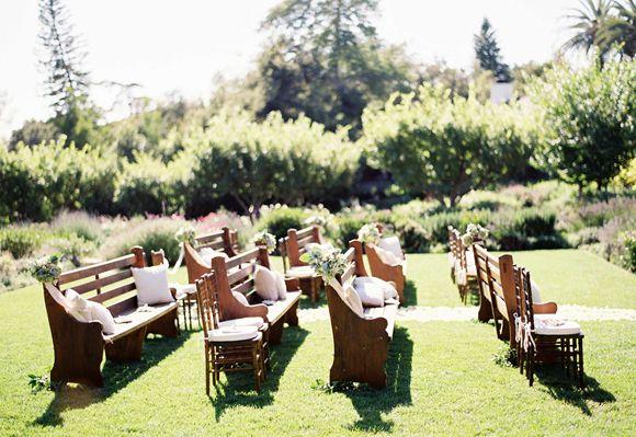 10 Unique Ceremony Seating Ideas