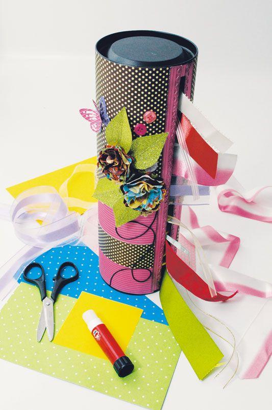 Porta-fitas com scrap / DIY, Craft, Upcycle