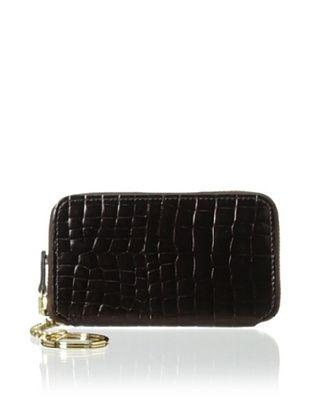 62% OFF AEON Women's Zipper Key Fob, Chocolate Metallic Croc