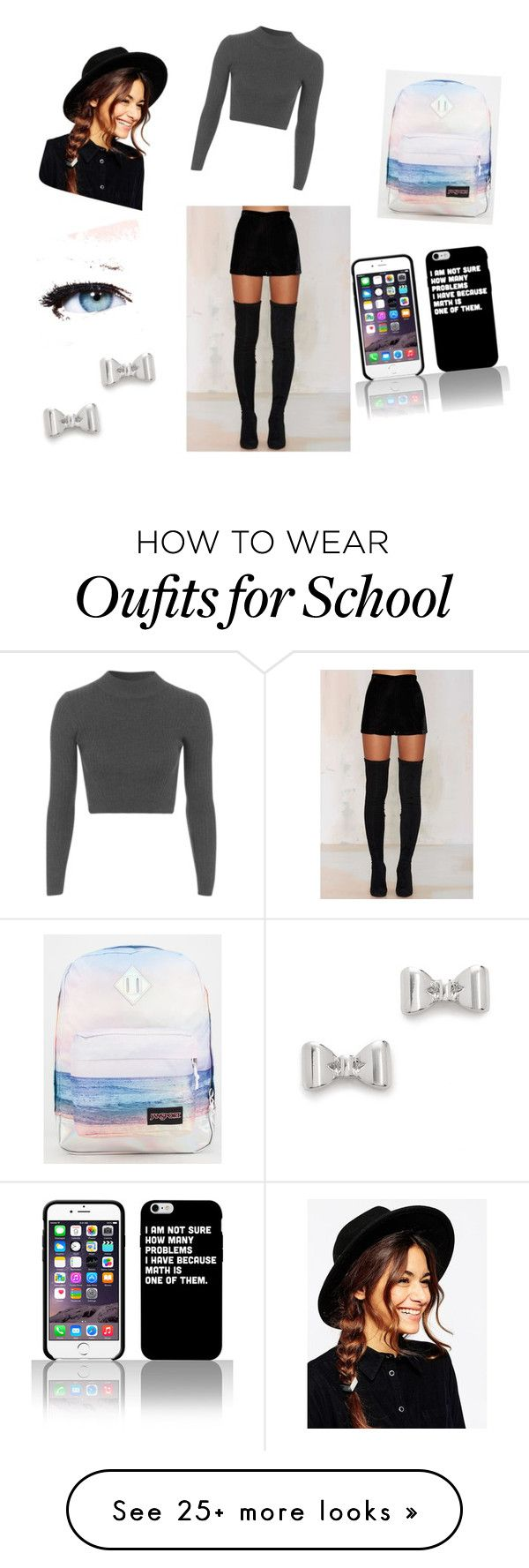 """""""back school cool"""" by alexmedley on Polyvore featuring Native Rose, Topshop, JanSport, ASOS, Maybelline and Marc by Marc Jacobs"""