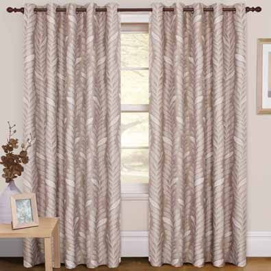 Rowan Leaf Curtains Natural